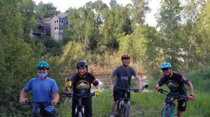 Athletes on a ride with Coach Jenn
