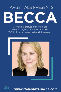 Broadway's best-known talent come together in memory of Rebecca Luker and to raise funds for ALS research.
