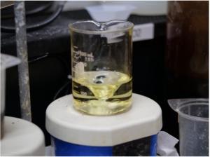 Oxidized VFRB Electrolyte in U.S. Vanadium's Laboratory in Hot Springs, Ark.