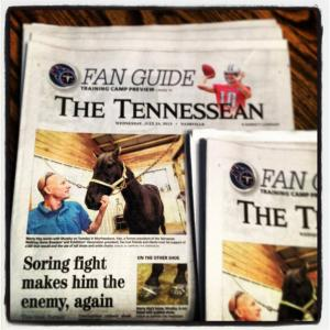 Marty Irby discusses soring with The Tennessean