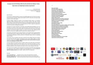 Two page letter sent to EU High Representative Josep Borrell, March 23 2021.