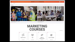 A screenshot of branded VIDIZMO video portal