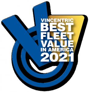 2021 Vincentric Best Fleet Value in America Awards Logo