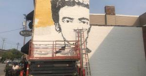 Lifts For Artists: Mac Working On Barrio Mural