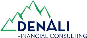 Mountains with text: Denali Financial Services
