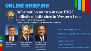 NCRI Online Briefing Iran regime's ballistic missile program