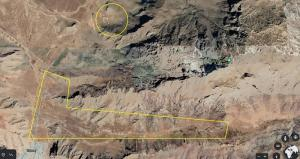 Satellite images display general geographics of the IRGC Kenesht missile launch facility, and the new complex, to the north, and northeast of the City of Kermanshah