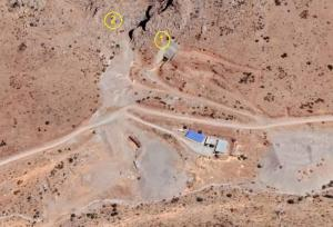 Satellite images reveal two tunnels in the Eastern area of the site--Coordinates--34°23'45.0″N 47°13'19.9″E --34°23'43.9″N 47°13'22.4″E