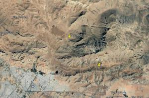 Satellite images demonstrate the general area of the site and the tunnels to the north of the site