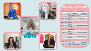 Features HGTV Star Brittany Ramos, Kim Hayden, Kristen Fenrick, Collette McDonald, Crista Swyers