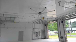 Utilite Ceiling Panels in a Fire Station.