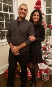 Sunil Jagani with his wife