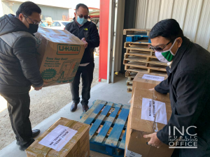 """<img src=""""image8.png"""" alt=""""Iglesia Ni Cristo volunteers load cargo plane with donations for delivery to Indigenous communities in Pauingassi and Little Grand Rapids, in Manitoba, Canada"""" />"""