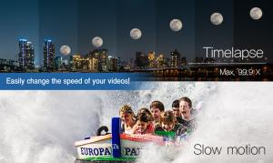 Change the speed of your videos and make a timelapse video