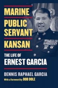 Book cover with photo of Ernest Garcia in US Marine uniform