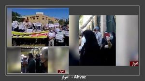 4 April 2021 - Ahwaz- Enraged Retirees Protest in 23 cities, Iran - 1