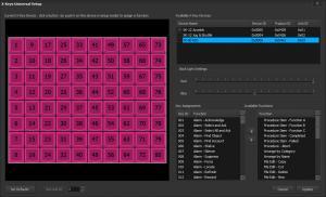 Limelight XE™ X-keys® setup dialog