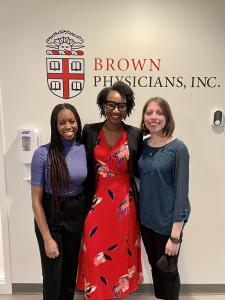 Skenda Jean-Charles, Dr. Carla Moreira and Kiara Corcoran Ruiz are conducting a study on COVID-19 Vaccine opinions