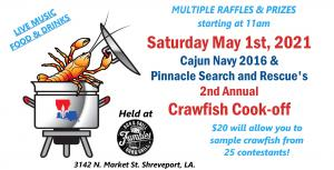 The event will consist of a competition between 25 of the area's top crawfish boiling teams