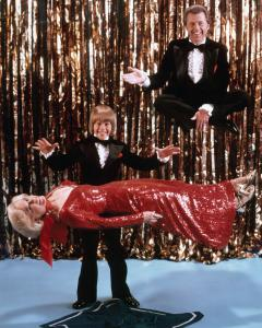 Young Greg Wilson levitating his parents, legendary magician Mark Wilson and his wife Nani.