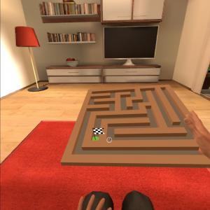 Stroke VR therapy with labyrinth game