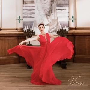 Woman Twirling in Red Dress - The Vixen Collection Cover Art