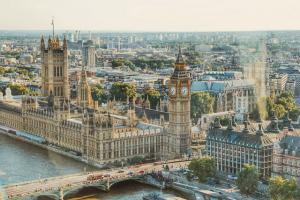 City view of London's Houses of Parliament
