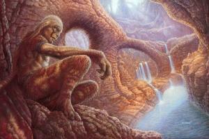 An illustration from Defender of Llyans