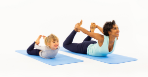 The mats have a sequence of yoga poses embossed directly on the mat - just unroll it and you're ready to Ommm!