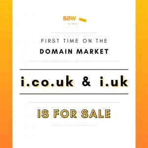 i.co.uk and i.uk are for sale with Saw.com