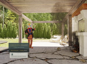 Spruce Point Capital Management's picture of a clown on a Porch