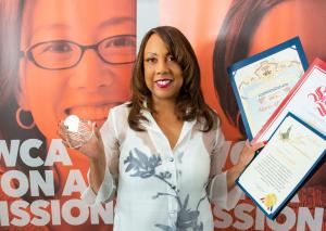 Entrepreneur and Visionary Marie Y. Lemelle was honored with the 2021 Heart & Excellence Trailblazer Award  by the YWCA Glendale for her advocacy to end racism and end violence against women.  She also received certificates from elected officials. Photo: Ken Jones
