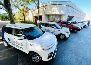Data-Tech's service vehicles