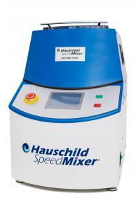 The original Hauschild SpeedMixer® carries its logo on the frontside.