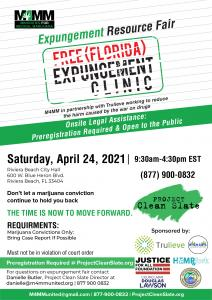 Flyer for Florida expungement clinic