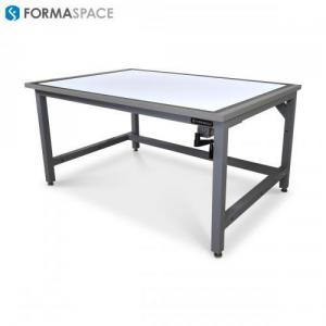 traditional drafting table with modern ergonomic features