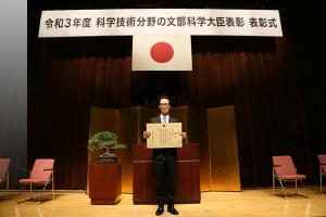 EKO Instruments President Hasegawa with the Science & Technology Award