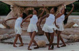 Chocolate Ballerina Company dancers in a pop-up performance.