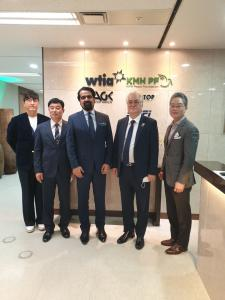 The meeting at the WTIA Group Headquarters in Seoul, South Korea