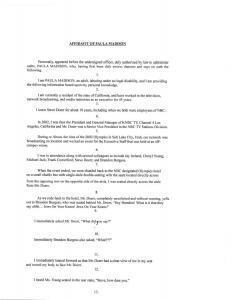Image of Affidavit from Paula Madison