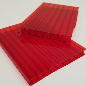 Polycarbonate multiwall in red.