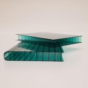 Polycarbonate multiwall in green.