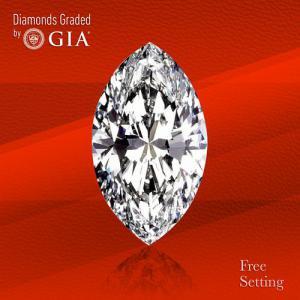 3.80 ct, D/IF, TYPE IIa Marquise cut GIA Graded Diamond.