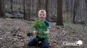 Tree Planting Young Boy Child