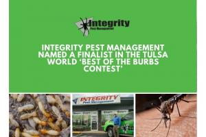 Integrity Pest Management Named a Finalist in the Tulsa World 'Best of the Burbs Contest'
