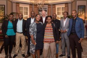 Senior members of BLACC attending an exclusive Bisquit Cognac tasting