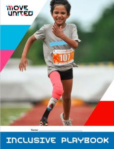 Cover of Inclusive Playbook featuring young athlete running