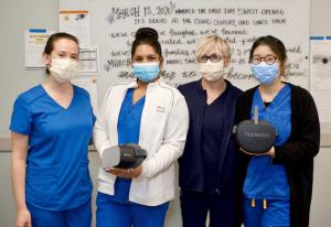 Nurses at Hoag using a Pico headset for stress reduction
