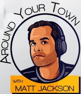Cartoon image of radio talk show host Matt Jackson