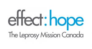[logo] effect:hope - The Leprosy Mission Canada (grey and blue with white background)
